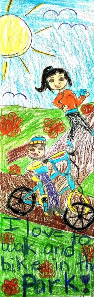 Artwork by winner Angelika Gorecka, a 3rd grade student at Slackwood Elementary School, Lawrenceville NJ