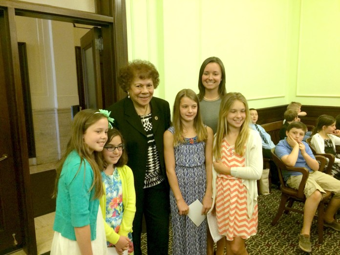 A History-Making Trip to Statehouse for Stony Brook Elementary Students