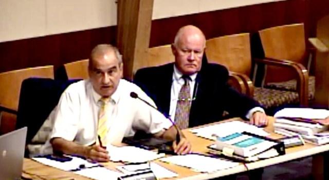 Hopewell Township planner, Frank Banisch, and  Hopewell Township planning board attorney, Ron Morgan