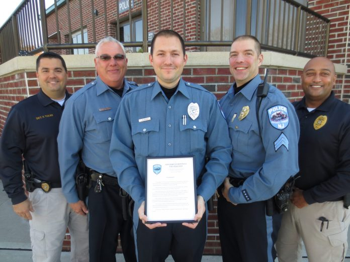 Hopewell Officer Honored for Life Saving Use of Narcan