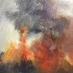 Serotiny oil painting MJ Sagan 18×24