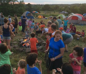 Annual Hopewell Campout around the campfire from D&R Greenway