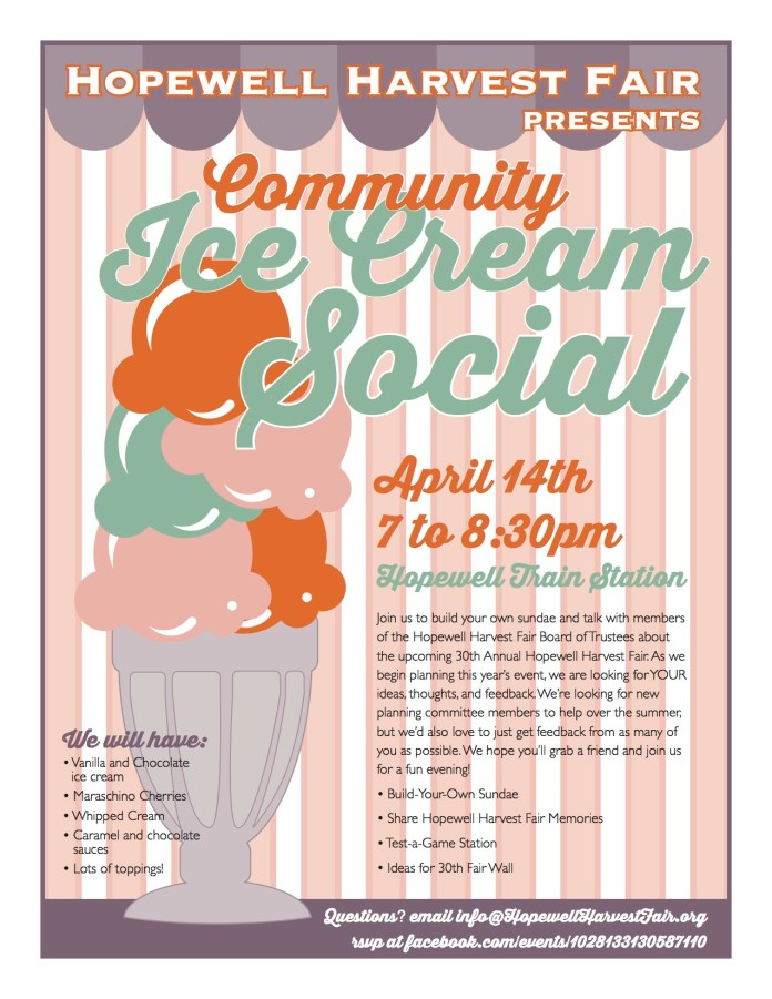 Community Ice Cream Social to be Hosted Hopewell Harvest Fair Board of Trustees