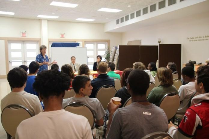 Susan Morris, Director of Education, introducing guest speakers