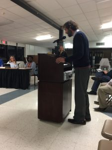 David Friedrich, President of the Hopewell Valley Administrators and Supervisors Association