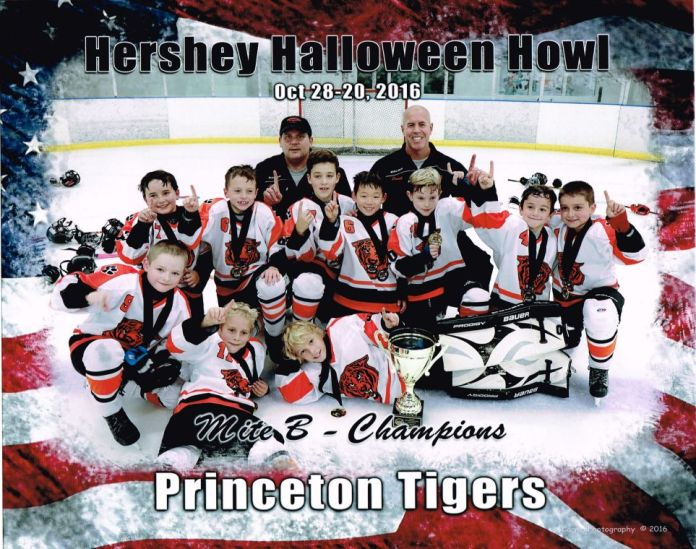 Princeton Youth Hockey Association 8U's Win Hershey Halloween Howl Tournament