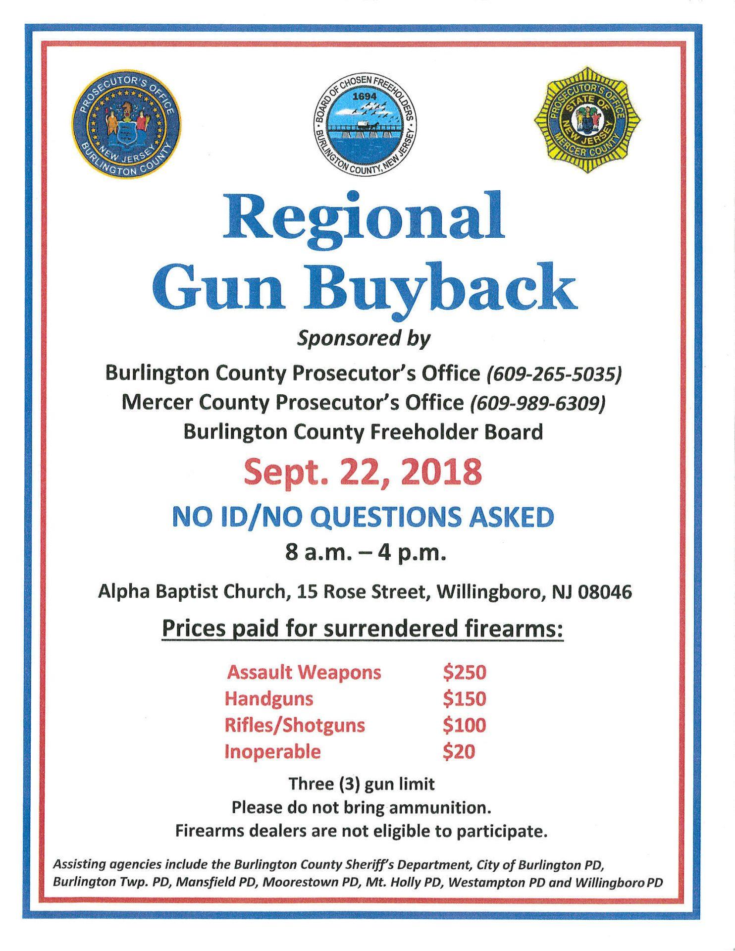Regional Gun Buyback To Be Held September 22 Mercerme