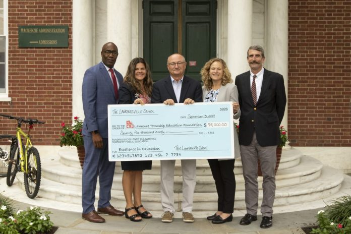 The Lawrenceville School Increases Annual Donation to the Lawrence Township Education Foundation