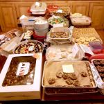 Laden table at the 4th cookie exchange