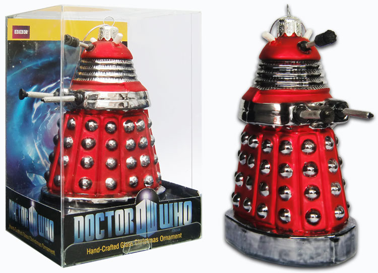 Doctor Who Red Drone Dalek Christmas Ornament