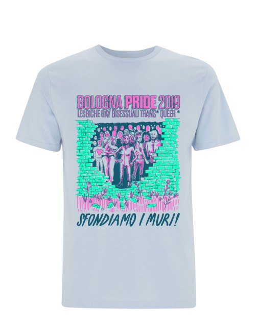 Bologna Pride 2019 Limite Edition Tee Color Light Blue
