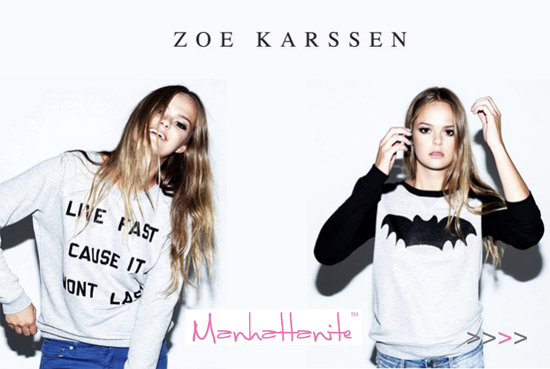 Zoe Karssen Collections are Easy-to-Wear Styles for the Cool Girls in Town! Buy at ShopManhattanite.com Now!