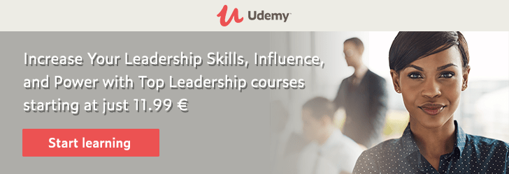*Increase Your Leadership Skills, Influence, and Power with Top Leadership courses starting at just $11.99.