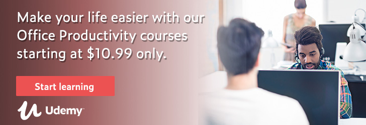 *Make your life easier with our Office Productivity courses starting at $10.99 only.