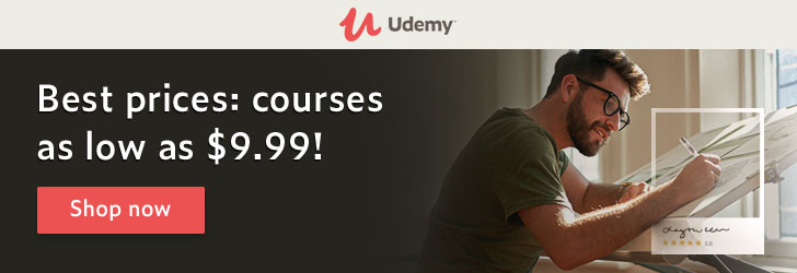 *Our best prices are on! Udemy courses now as low as $9.99.