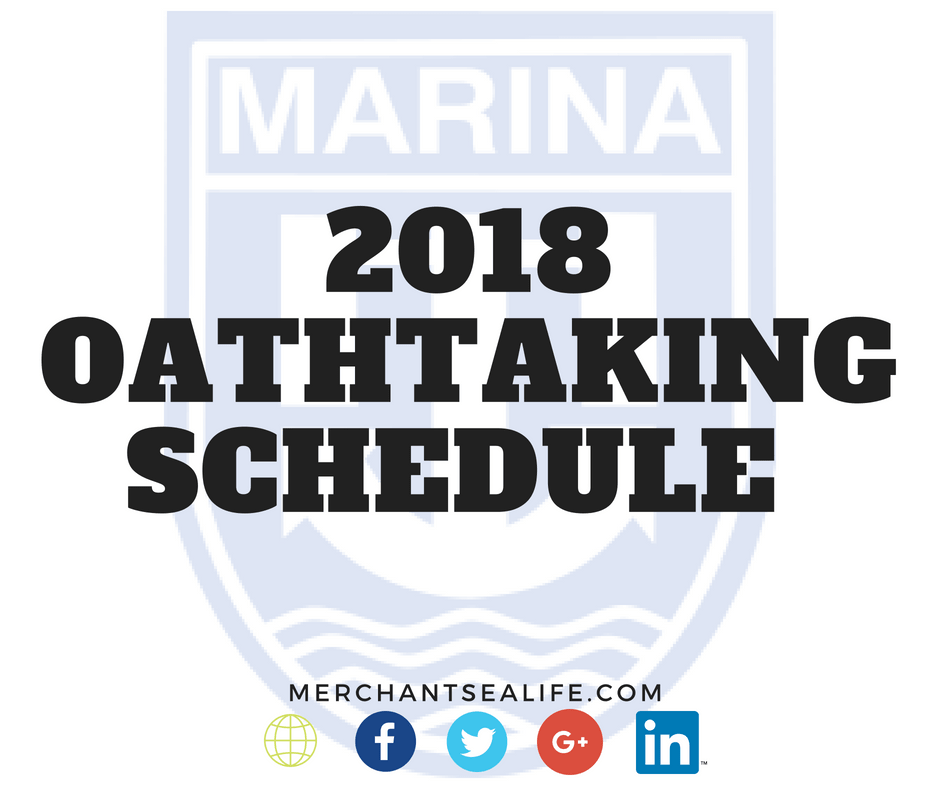 2018 Oath taking Schedule for Marine Officers - Merchant Sea Life