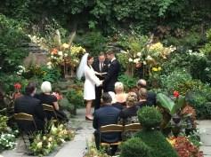 wedding ceremony in the garden