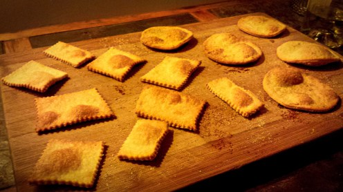 Torta crackers, in assorted shapes