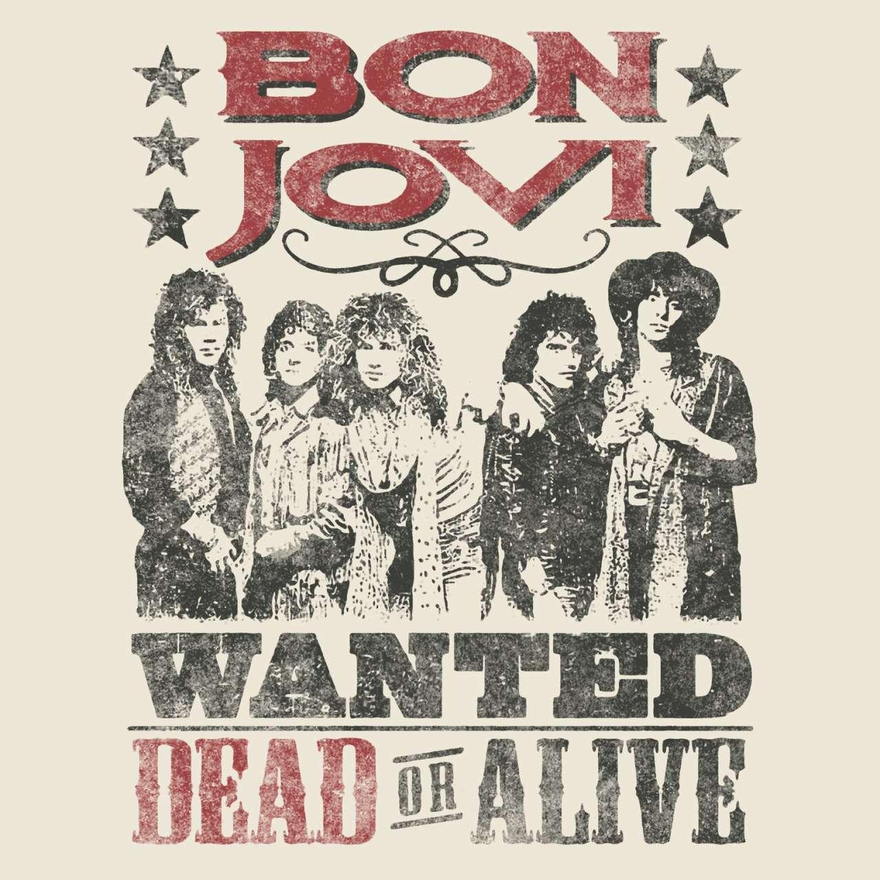 bon jovi t shirt wanted dead or alive poster bon jovi shirt