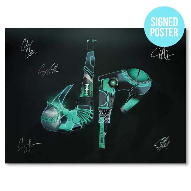 dude perfect dp hero poster autographed