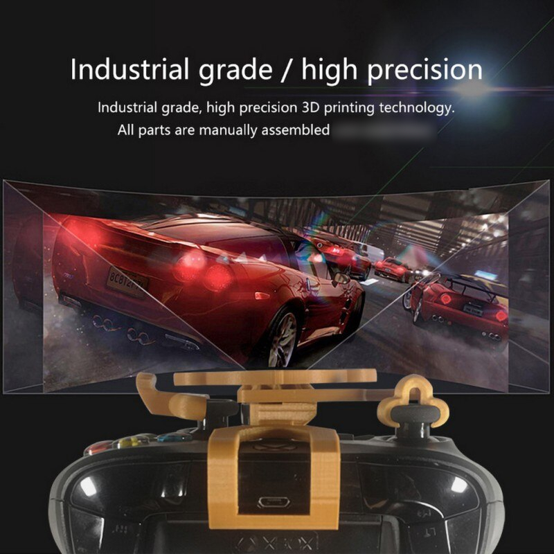 Mobile Joystick Add on for Xbox One X / Xbox One S / Elite Controller 3D Mini Steering Wheel Case Gaming Racing Wheel Pubg