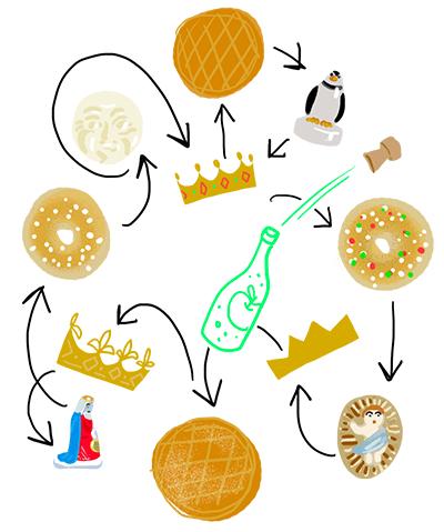 Le cercle infernal de la galette des rois