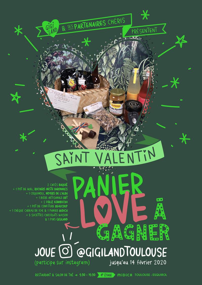 Affiche Panier Love St Valentin