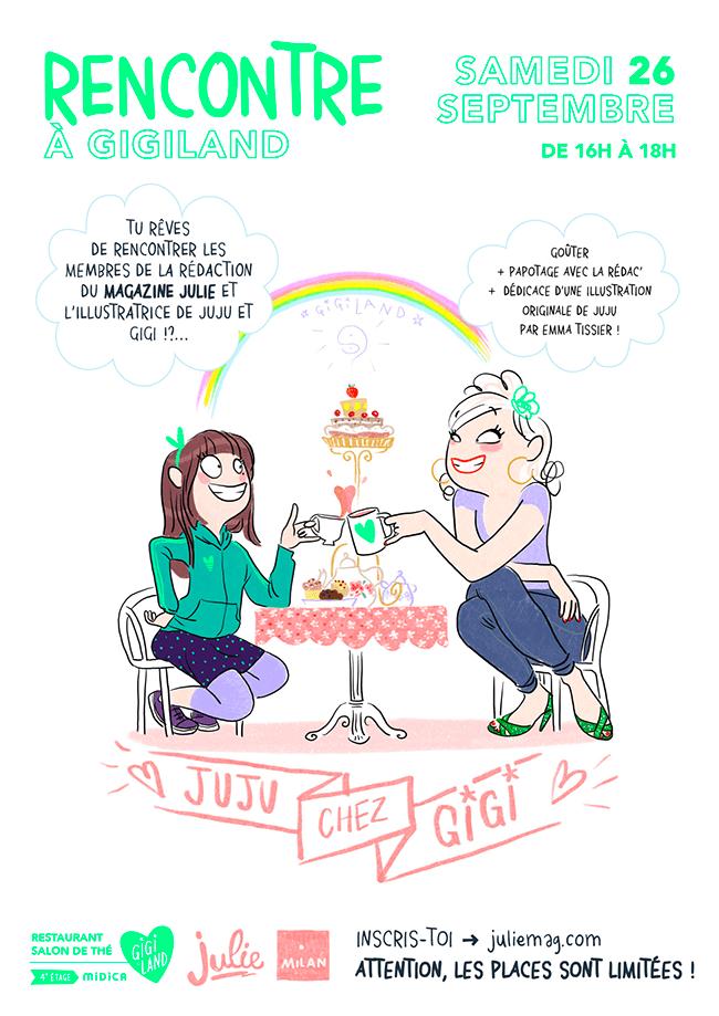 Gigi invite julie magazine @ gigiland