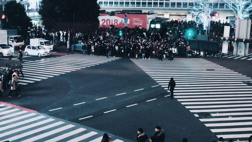 Le plus grand carrefour du monde à Shibuya au Japon