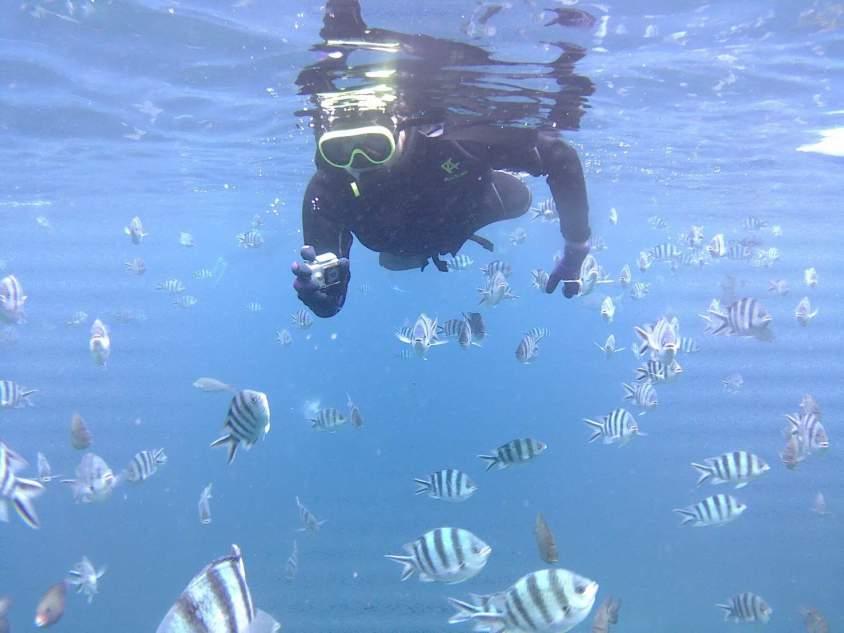 J'ai fait du Snorkeling à Okinawa au Cap Maeda