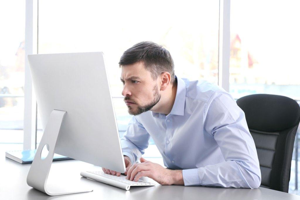 bad posture at work