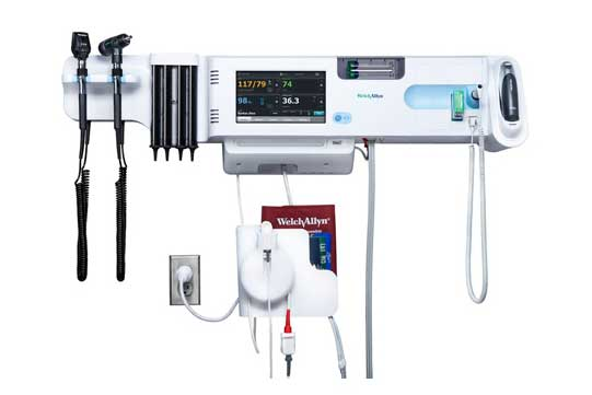 Welch Allyn Connex Integrated Wall System with Braun ThermoScan PRO 4000 Thermometry