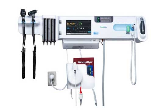 Welch Allyn Connex Integrated Wall System with BP Cuff and Cord Management System