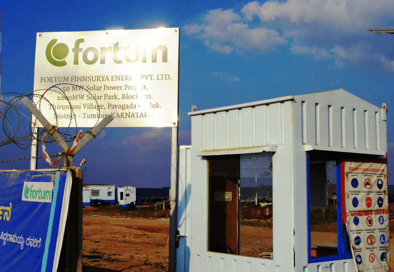Fortum Commissions 100 MW of Solar Project in Pavagada Solar Park