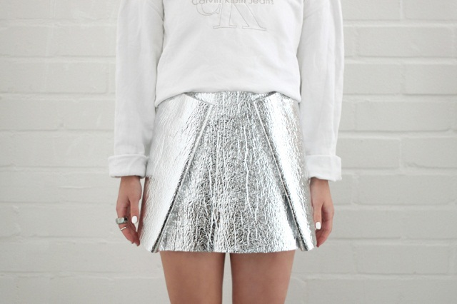 love aesthetics diy foil skirt1