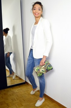 mercredie-blog-mode-geneve-mariniere-lafayette-collection-jean-slim-skinny-zara-zip-bun-curly-hair-nappy-afro-natural-bensimon-blanches-look-blazer-crepe-bash-lipova-catherine-membre-Armyshine-camouflage2