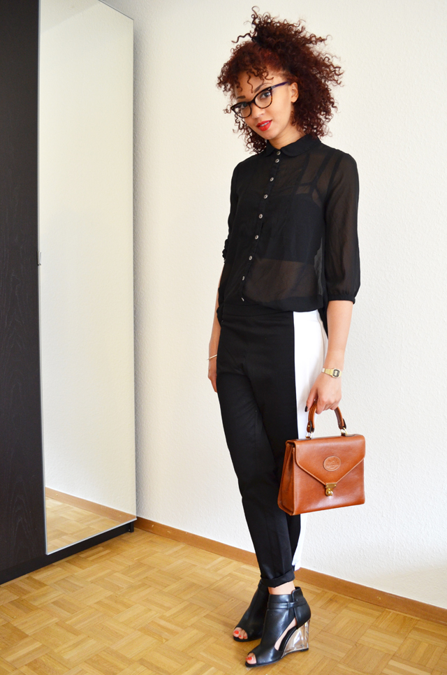 mercredie-blog-mode-pantalon-groom-rayure-bande-chaussures-sandales-talons-transparents-h&m-asos-margiela-sac-hermes-vintage