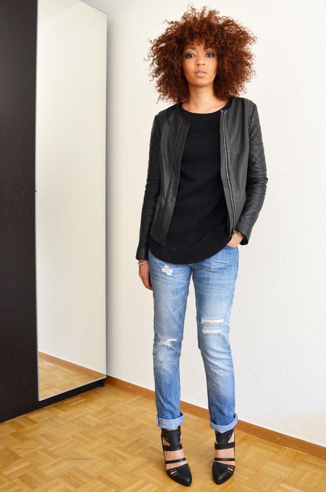 mercredie-blog-mode-geneve-suisse-pull-bear-sandales-talons-afro-hair-cheveux-zara-jean-boyfriend-blouson-cuir-bel-air2