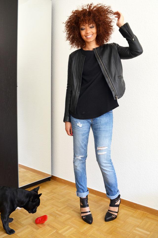 mercredie-blog-mode-geneve-suisse-pull-bear-sandales-talons-harlem-afro-hair-cheveux-zara-jean-boyfriend-blouson-cuir-bel-air