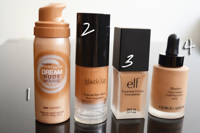 mercredie-blog-mode-beaute-makeup-favoris-fond-de-teint-elf-zero-defaut-flawless-foundation-test-deam-nude-mousse-loreal-black-up-maestro-armani