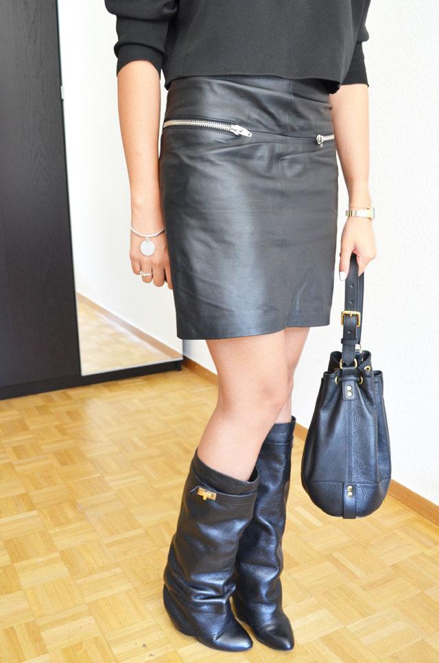 mercredie-blog-mode-geneve-suisse-boots-bottes-choies-givenchy-shark-ersatz-jupe-cuir-zip-h&m-pull-crop-top-zara-2013-sac-apc-sceau-cuir3