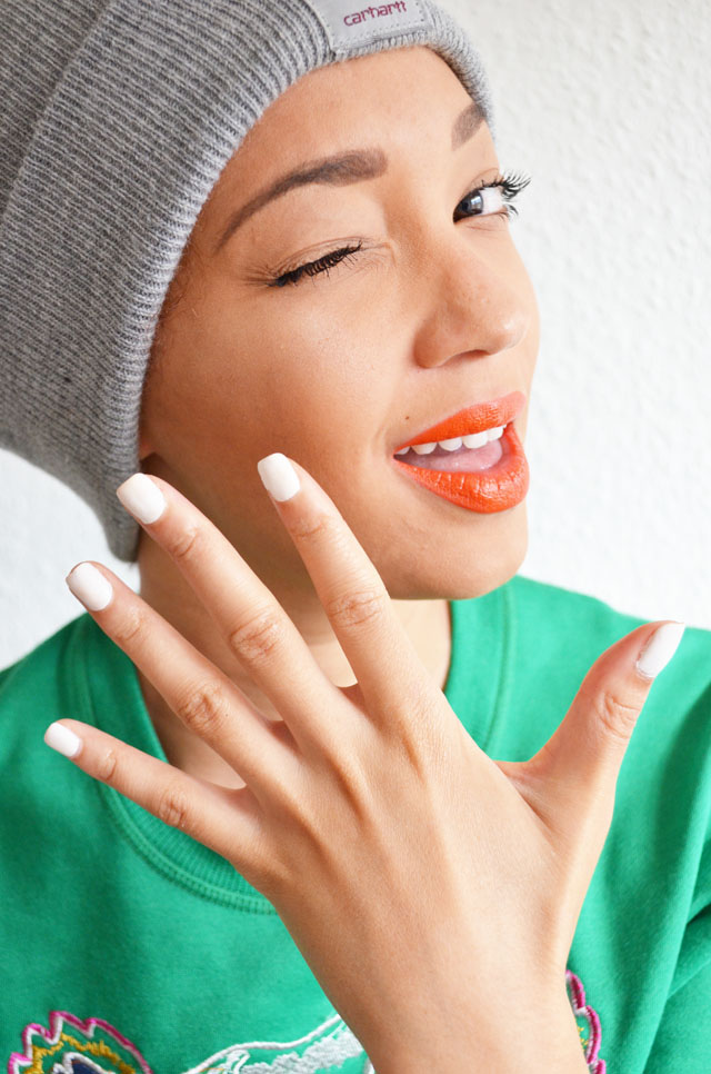mercredie-blog-mode-beaute-ongles-manucure-semi-permanente-gel-maison-my-trendy-kit-mytrendykit-carharrt-make-up-for-ever-rouge-artist-orange-kenzo-sweat-tiger-tigre-sweater-beenie