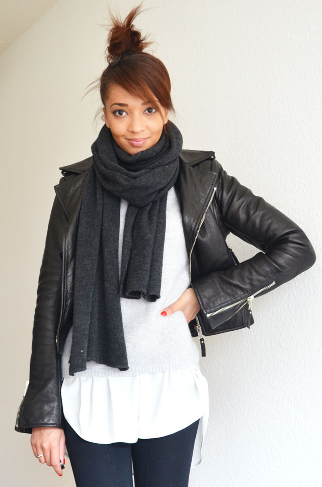 mercredie-blog-mode-geneve-suisse-fashion-blogger-zara-pistol-acne-look-outfit-balenciaga-perfecto-biker-jacket-cuir-leather-black-silver-zips-zippers-argent