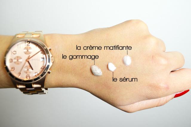 mercredie-blog-beaute-test-avis-soins-visage-metisse-peaux-afro-noires-niwel-gommage-soin-exfoliant-coco-beurre-swatch-serum-sebo-regulateur-soin-creme-matifiant