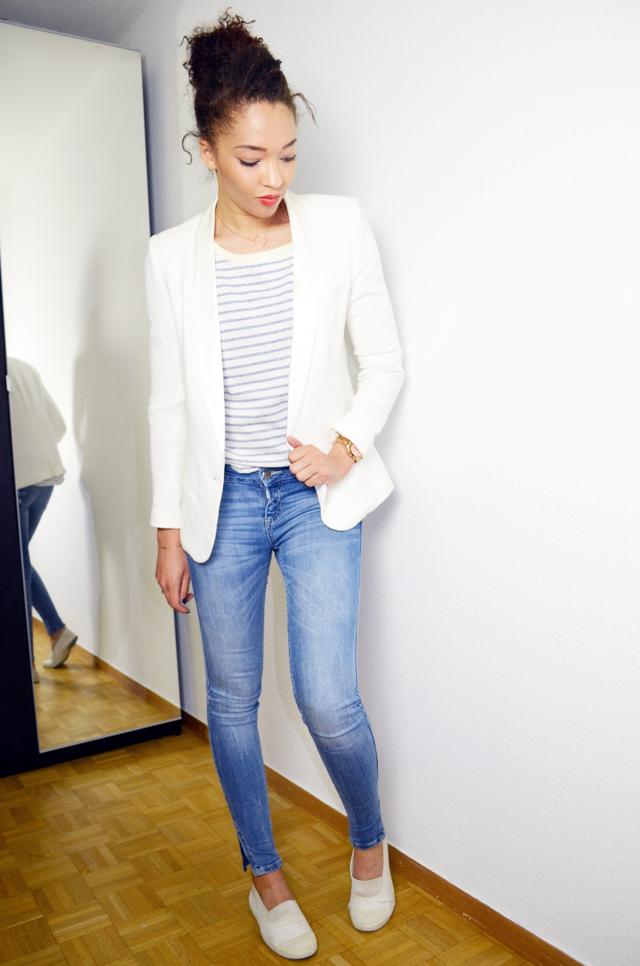 mercredie-blog-mode-geneve-mariniere-lafayette-collection-jean-slim-skinny-zara-zip-bun-curly-hair-nappy-afro-natural-bensimon-blanches-look-blazer-crepe-ba&sh-lipova