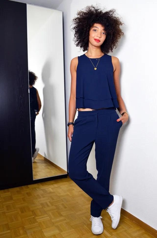 mercredie-blog-mode-uniforme-zara-2014-navy-bleu-marine-pantalon-stan-smith-white-blanches-adidas-afro-hair-nappy-naturels-cheveux