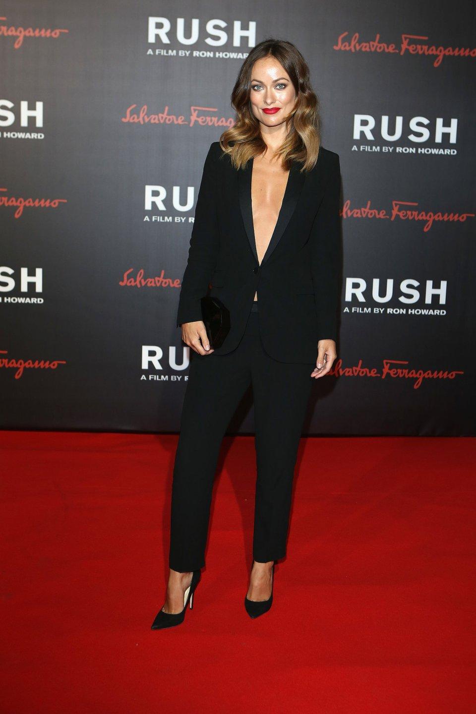 Olivia-Wilde-took-plunge-sexy-tuxedo-suit-world
