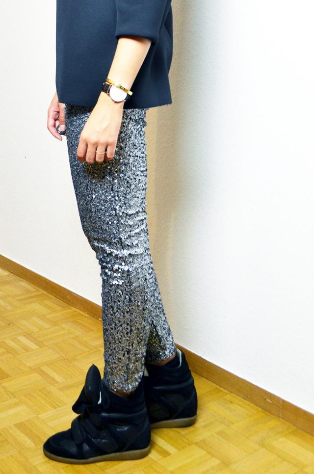 mercredie-blog-mode-legging-sequins-h&m-sneakers-isabel-marant-black-daniel-wellington-classic-york-lady