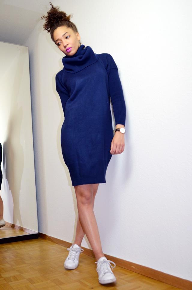 mercredie-blog-mode-beaute-makeup-kiko-purple-lipstick-923-peony-zaful-dress-bun-afro-natural-hair-stan-smith-adidas-white-outfit-inspiration2