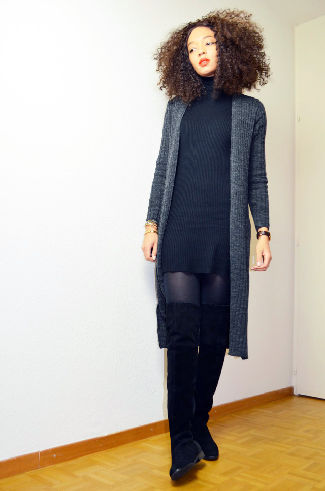 mercredie-blog-mode-cardigan-geneve-new-look-cotele-robe-col-roule-zara-lacewig-jenna-riley-chinese-laundry-over-the-knee-boots-otc